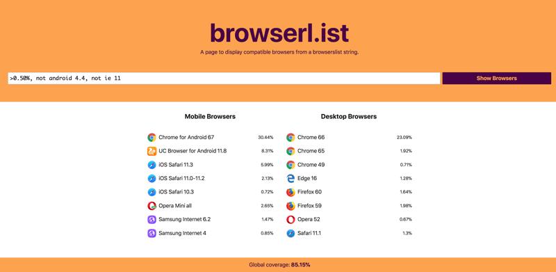 browserlist ve Autoprefixer'ı güncel tutmak