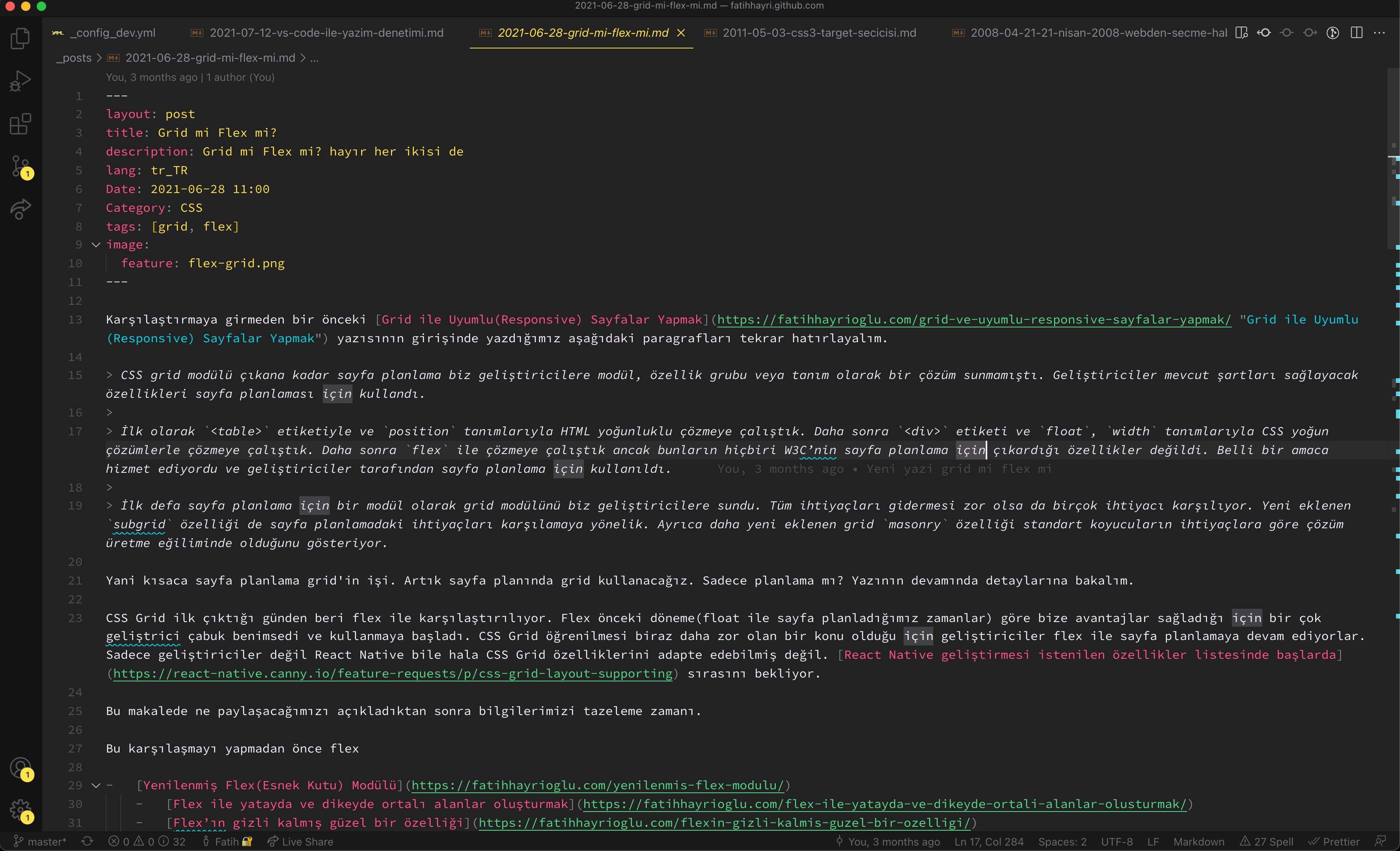 VS Code ekranı